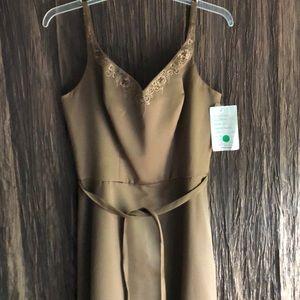 Mori Lee satin fashion dress Maxi length  sz 16